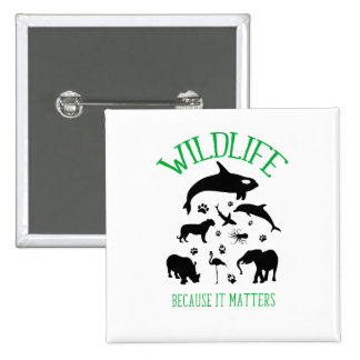 Wildlife Because it matters Wild Silhouette Badge Button