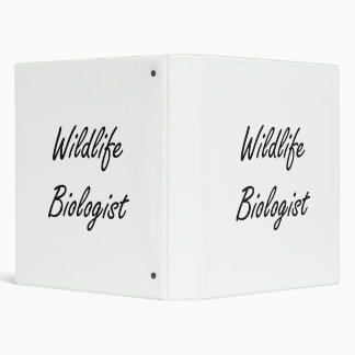 Wildlife Biologist Artistic Job Design 3 Ring Binder