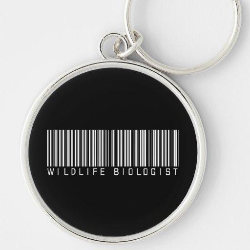 Wildlife Biologist Bar Code Keychain