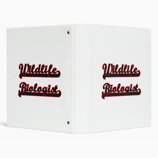 Wildlife Biologist Classic Job Design Vinyl Binder