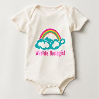 Wildlife Biologist Rainbow Cloud Baby Bodysuit