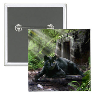 Wildlife Button with Black  Panther