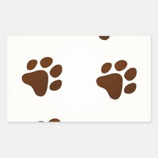 Wildlife Cartoon Trace Rectangular Sticker