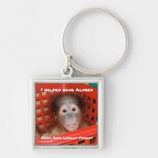 Wildlife Charity Rainforest Legacy Silver-Colored Square Keychain