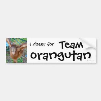 Wildlife Cheerleader : Team Orangutan Car Bumper Sticker