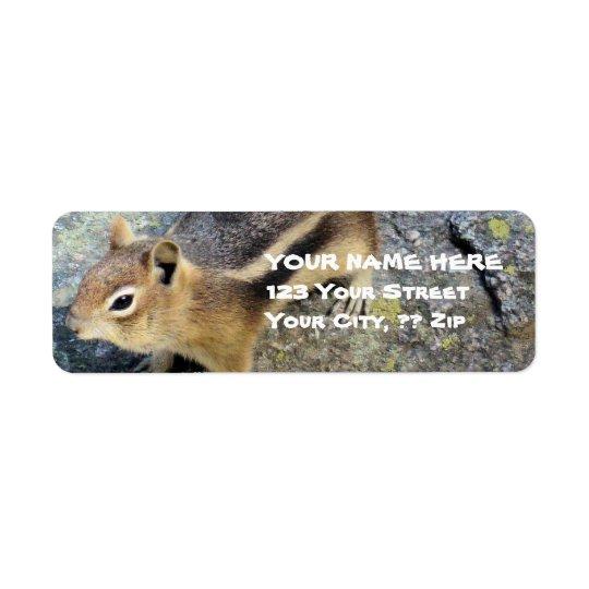 Wildlife Chipmunk Address Labels