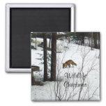 Wildlife Christmas-Fox Refrigerator Magnet