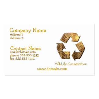 Wildlife Conservation Business Card
