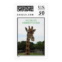 WILDLIFE CONSERVATION earth day  giraffe Postage