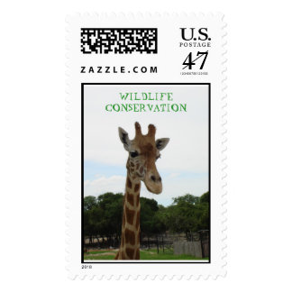 WILDLIFE CONSERVATION earth day  giraffe Stamp