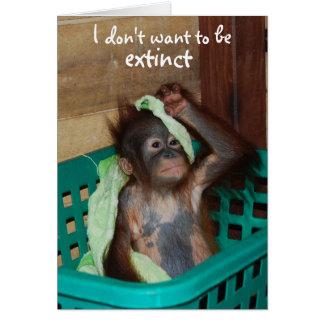 Wildlife Conservation Grumpy Baby Card