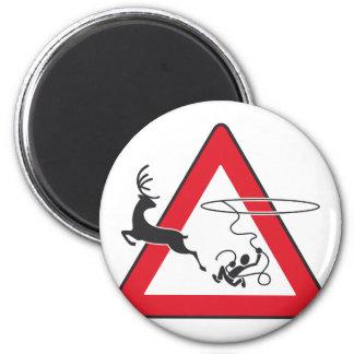 Wildlife crossing Lasso 2 Inch Round Magnet