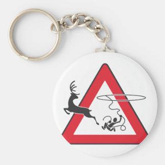 Wildlife crossing Lasso Basic Round Button Keychain