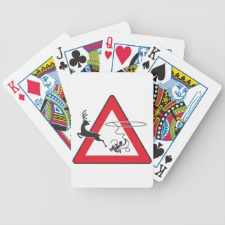 Wildlife crossing Lasso Bicycle Playing Cards