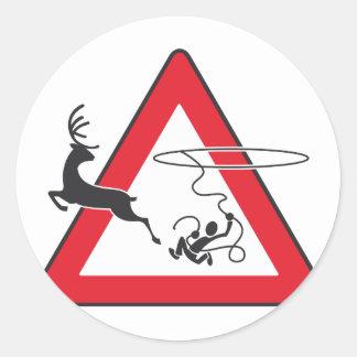 Wildlife crossing Lasso Classic Round Sticker