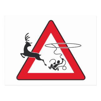 Wildlife crossing Lasso Postcard