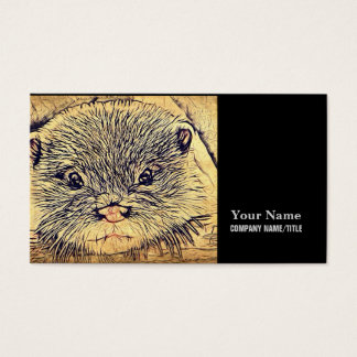Wildlife Cuddly Cute Sea Animal  baby otter Business Card