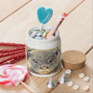 Wildlife Cuddly Cute Sea Animal  baby otter Candy Jar