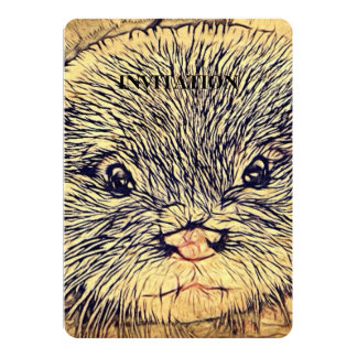 Wildlife Cuddly Cute Sea Animal  baby otter Card