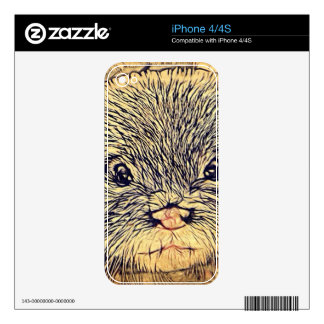 Wildlife Cuddly Cute Sea Animal  baby otter Decal For iPhone 4