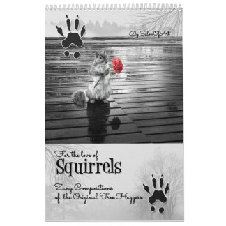Wildlife Custom Calendar for Squirrel Lovers