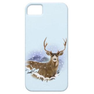 wildlife, deer in snow, mountains iPhone SE/5/5s case