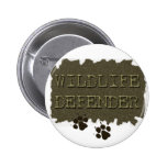 wildlife defender with pawprints buttons