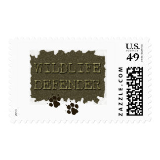wildlife defender with pawprints stamps