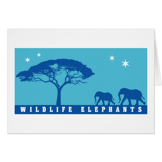 Wildlife Elephants Card