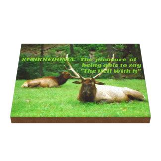 Wildlife Elk Hunters Attitude Canvas Print