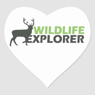 Wildlife Explorer Heart Sticker