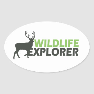 Wildlife Explorer Oval Stickers