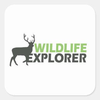 Wildlife Explorer Square Sticker