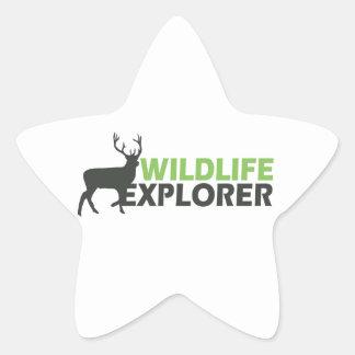 Wildlife Explorer Star Sticker