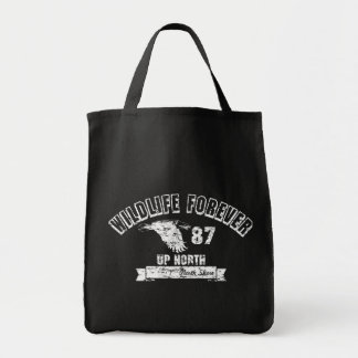 WILDLIFE FOREVER UP NORTH GROCERY BAG