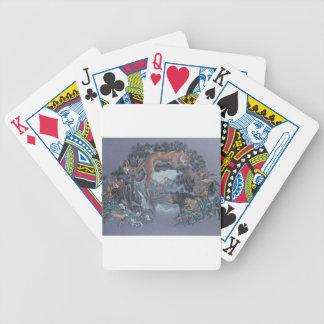 Wildlife Gathering Bicycle Playing Cards