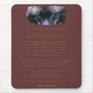 Wildlife Grey Wolf Animal-lover design Mouse Pad