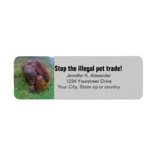 Wildlife Illegal Pet Trade Custom Return Address Label