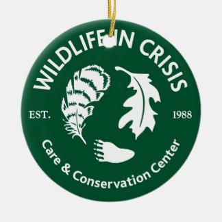 Wildlife in Crisis Ceramic Ornament