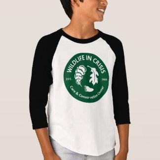 Wildlife in Crisis kids raglan sleeve T-Shirt