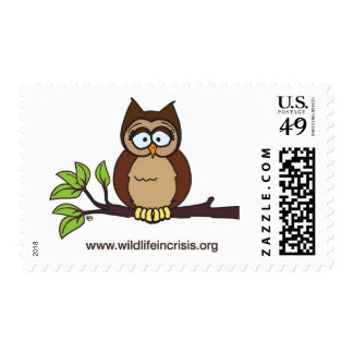 Wildlife in Crisis Owl Postage Stamps