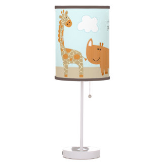 Baby monkey table pendant lamps zazzle for Jungle floor lamp for nursery