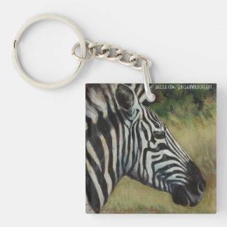 Wildlife Key Chain with Zebra and Rhino