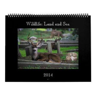Wildlife: Land and Sea Calendar 2014