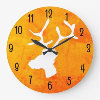 Wildlife Large Clock
