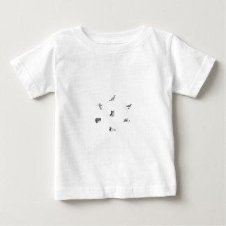 Wildlife Line Art Baby T-Shirt