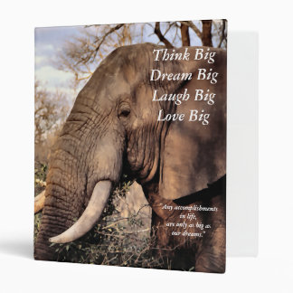Wildlife Lovers Elephant Think Big! Binder