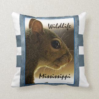 Wildlife Mississippi Gray Squirrel Pillow