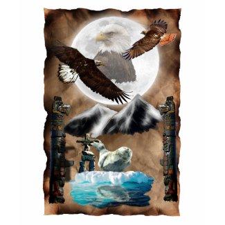 Wildlife & Native American Spirit Art zazzle_shirt