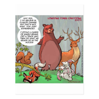 Wildlife Outlook Of Climate Change Funny Postcard